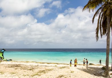 Bonaire_Kitesurfen_am_Pink_Beach