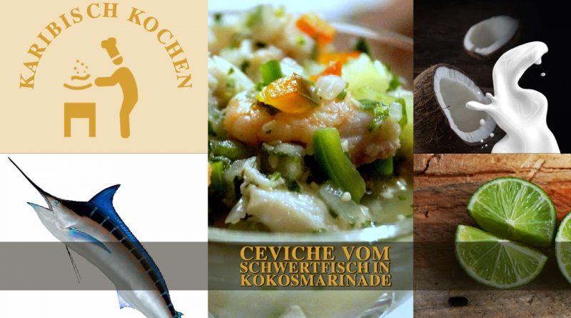 Ceviche vom Schwertfisch in Kokosmarinade